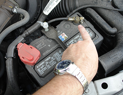 Interstate Car Battery Positive Terminal