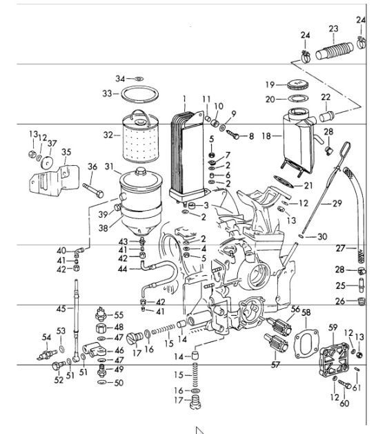 Porsche 365 Engine Diagram Buy Porsche Oil Tank Parts Porsche