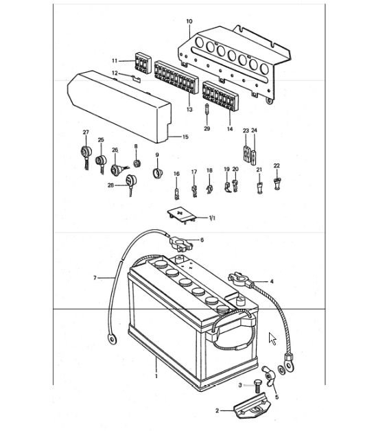 1999 Porsche Boxster Fuse Box Diagram