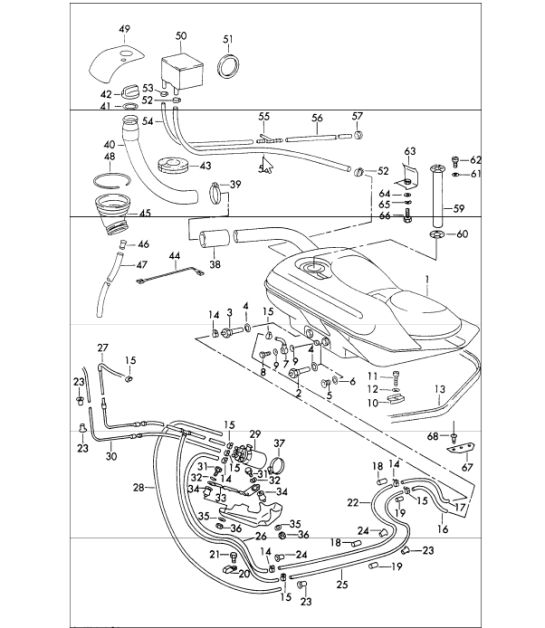Fuel System Lines With Pump Rear For 911 Tes 1971 Onwards: 1976 Porsche 912e Engine Diagram At Hrqsolutions.co