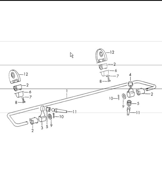 Stabiliser rear axle for 911S, CARRERA 2.7 and 911 T/E:M 1970-73