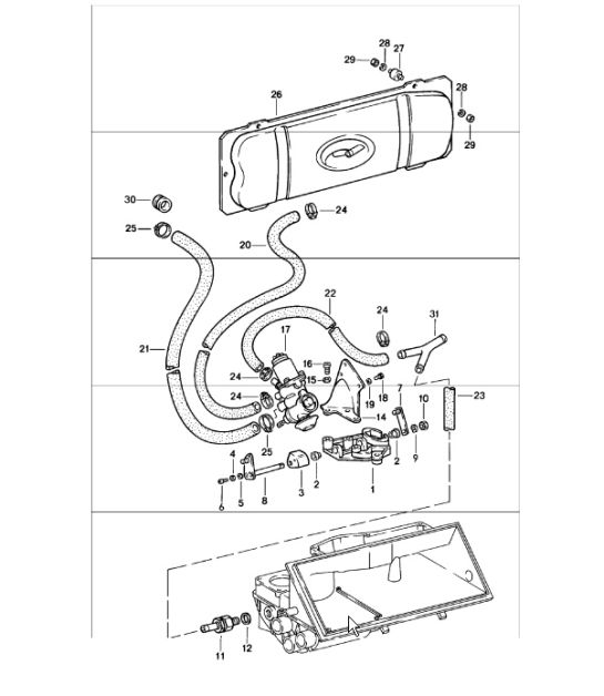 SPM - vacuum system for clutch release 911 1978-83