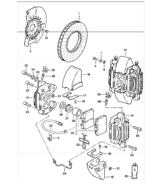 brake front axle