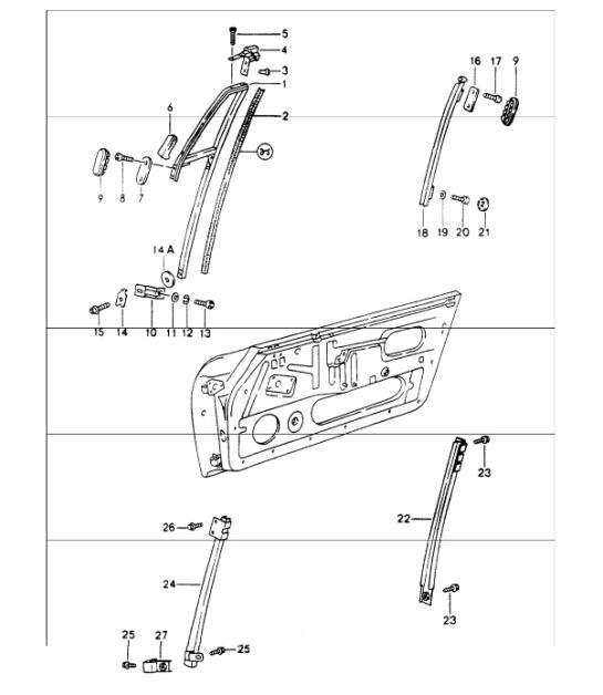 buy porsche 964 (911) 1989-94 doors / locks & latches | design 911, Wiring diagram