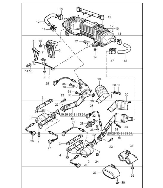 Buy Porsche Boxster 986987981 Exhaust Gaskets