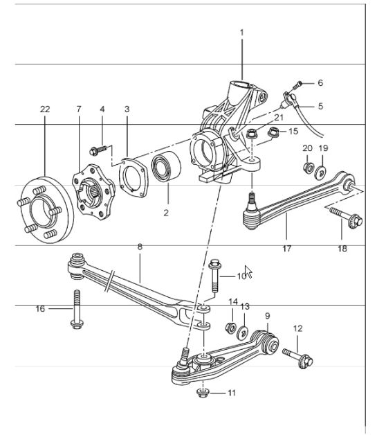 Car Bearings Diagram : Porsche boxster wheel bearing diagram auto parts