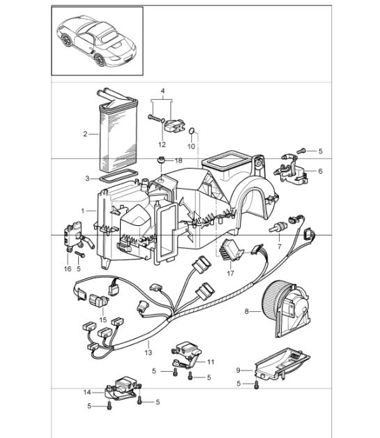 Air Conditioner Single Parts 987 Boxster S 200508: Porsche Air Conditioning Wiring Diagram At Johnprice.co