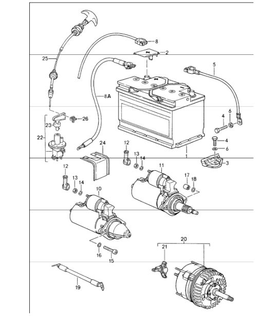 Porsche 964 Battery Wiring Diagram