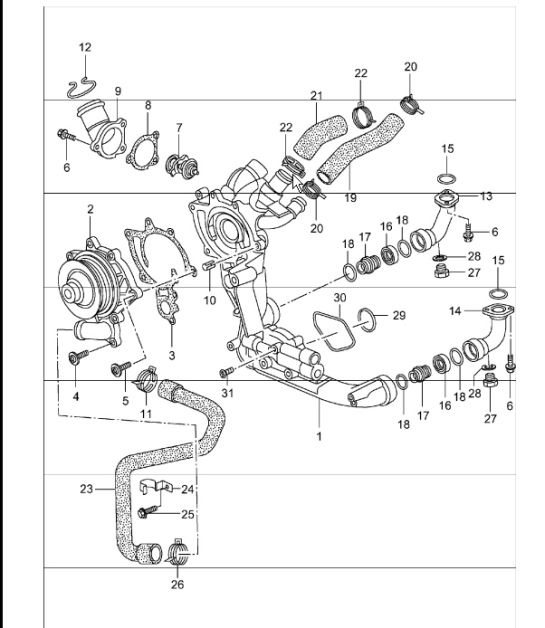 2004 porsche 911 engine diagram