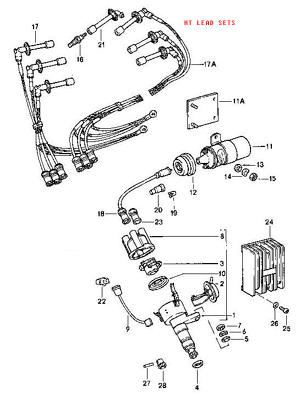 Ignition Lead Sets on porsche 914 wiring diagram