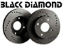 Porsche 924 1977-88 924S 2.5L 1986-87 Black Diamond Brake Disc DRILLED