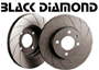 Porsche 924 1977-88 924S 2.5L 1986-87 Black Diamond Brake Disc GROOVED 12