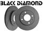 Porsche 924 1977-88 924S 2.5L 1986-87 Black Diamond Brake Disc GROOVED 6