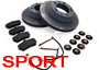 Porsche 996 (911) 1997-05 996 C4 3.4L 1997-08/01 SPORTS Brake Pads & Disc Package
