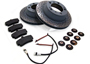 Porsche 924 1977-88 924S 2.5L 1986-87 Brake Pads & Disc Package