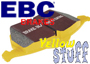 Porsche 911 1965-1989 911 1970-73 EBC YELLOW Track Brake Pads