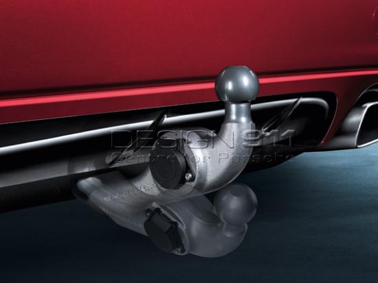 Genuine OEM Porsche Cayenne Trailer Hitch Cover Black on Silver