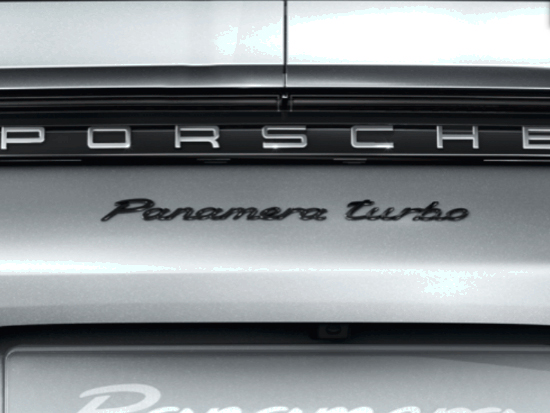 Panamera Turbo Black Rear Badge For Porsche 971 2017