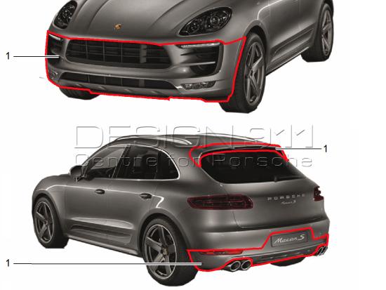 Porsche Macan Sportdesign Package 95b04480124 95b04480124 Design 911