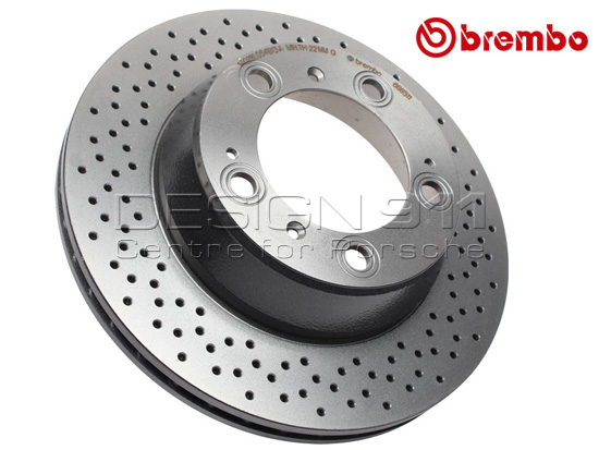 Porsche Front brake disc Ventilated DANSK BREMBO