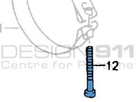 Exhaust Strap Screw. Porsche 964