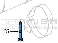 Exhaust Strap Screw. Porsche 965 Turbo
