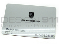 Card to Release Fog Lamp. Porsche 997
