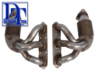 Exhaust Manifold / Header with HJS 200 CELL CAT for Porsche Boxster 987/ Cayman   DesignTek