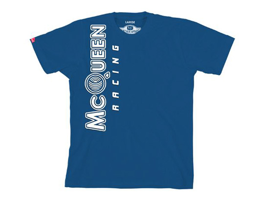 men s vertical logo t shirt steve mcqueen racing. Black Bedroom Furniture Sets. Home Design Ideas