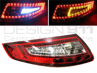 Indicator Unit Rear Clear/Red with LED bulbs for Porsche 997