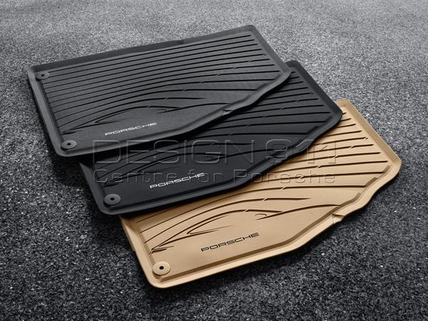 Rubber Floor Mats Porsche 981 Boxster / 981C Cayman / 991 (911) 2012>> / 718 Boxster LHD Cars