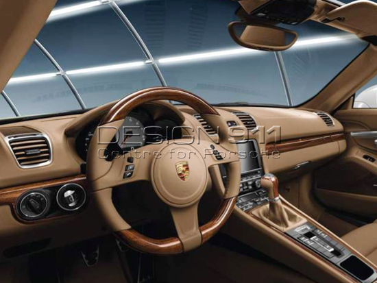 Interior Package In MAHOGANY For MANUAL Cars. Porsche 981 Boxster / 981C  Cayman