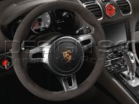 SportDesign steering wheel in Black Alcantara. Porsche 991 (911) / 981 Boxster / 981 Cayman