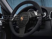 Multi-function steering wheel in Black Alcantara. Porsche 997 / 987 Boxster / 987C Cayman