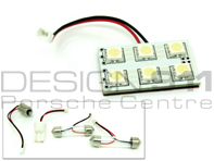 Interior Lamp / Light bulb. 6 LED Pad with adaptors