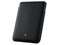 Porsche Case for iPad 2 and iPad 3, Black with Red stitching