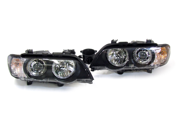 Bmw X5 E53 99 03 Xenon Angel Eye Headlamps Headlight Set