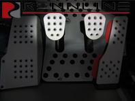 Rennline Aluminum Clutch/brake pedal 2 piece. Perforated. UNIVERSAL