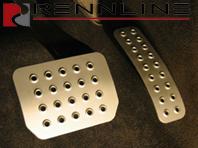 Rennline Aluminium 2 Piece Pedal Set. Porsche Cayenne ALL Tiptronic