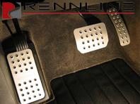 Rennline Aluminium 3 Piece Pedal Set. Porsche Cayenne ALL Tiptronic