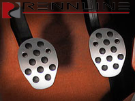 Rennline Aluminum Clutch/brake pedal 2 piece. Rubber Grip. UNIVERSAL
