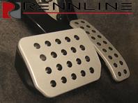 Rennline Aluminium 2 Piece Pedal Set Rubber Grip. Porsche Cayenne TIPTRONIC