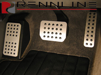 Rennline Aluminium 3 Piece Pedal Set Rubber Grip. Porsche 955/957Cayenne  TIPTRONIC