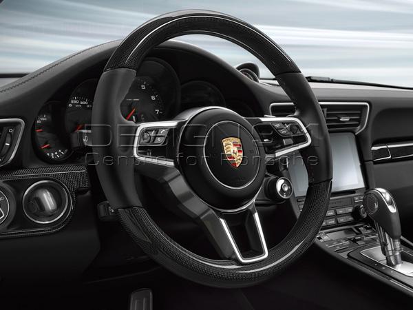 Porsche 991 Sports Multi Function Steering Wheel In Carbon