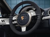 Steering Wheel Padded in Black Alcantara. Porsche 997 / 987 Boxster / 987 Cayman