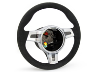 SportDesign Steering Wheel Padded in Black Alcantara. Porsche 997 / 987 Boxster / 987 Cayman