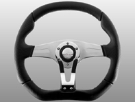 Steering Wheel Trek R - Black Lth / Chrome - Momo
