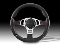 Steering Wheel Millenium Sport - Black Lth / Red - Momo
