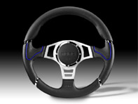 Steering Wheel Millenium Sport - Black Lth / Blue - Momo