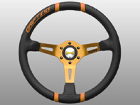 Steering Wheel Drifting - Black Lth / Orange Inserts - Momo